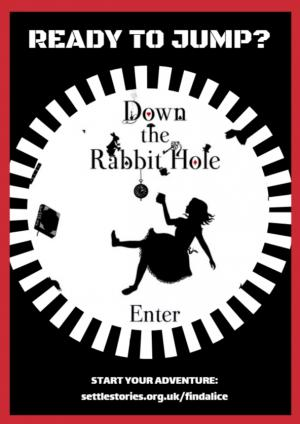 Down the Rabbit Hole leaflet design