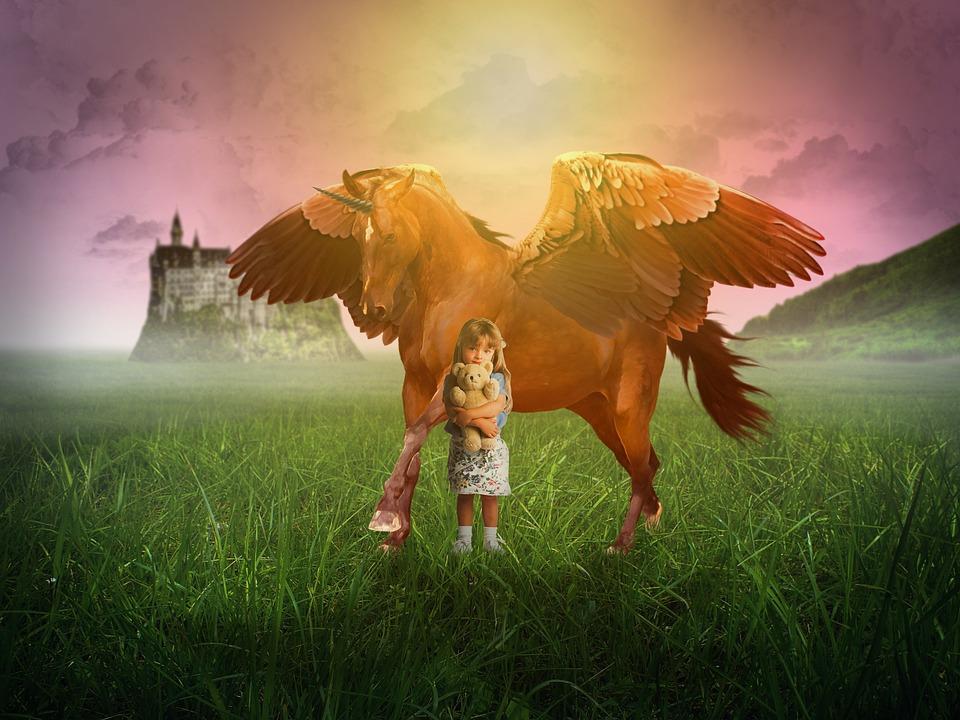 fairytale image of girl