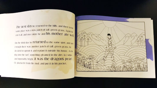 Photo of inside of The Dragon's Pearl book