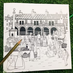 Photo of Market Day colouring cards