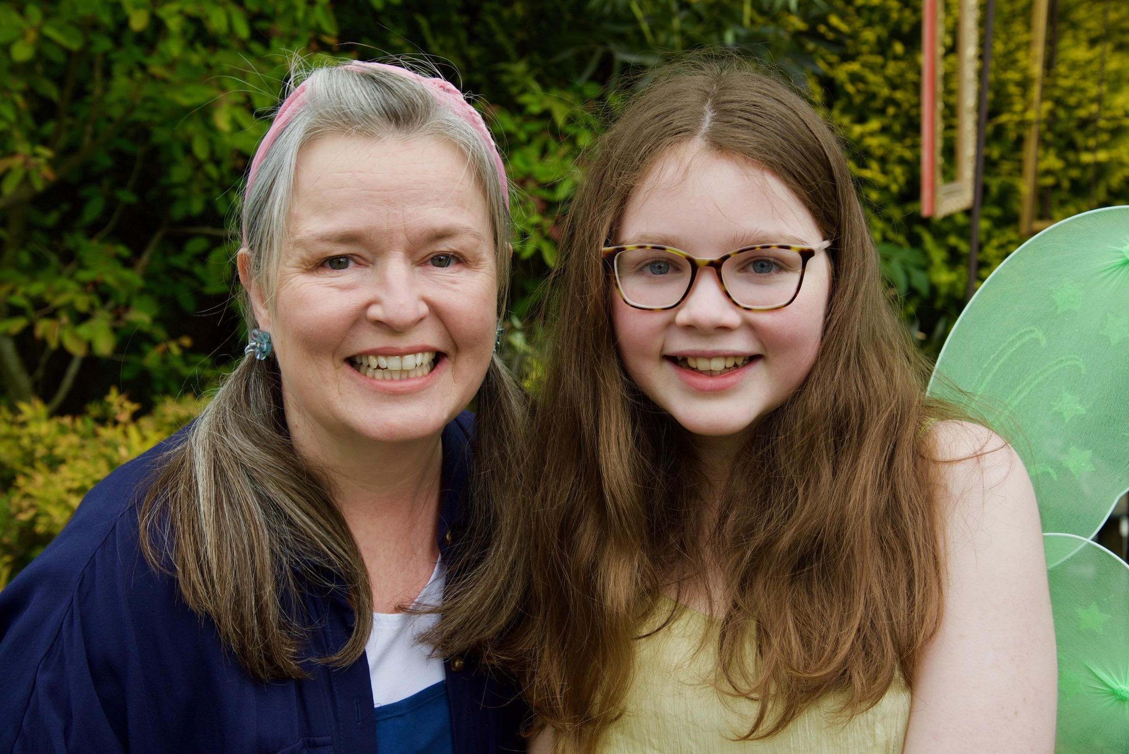 Jayne and her daughter as Blossom and Twig