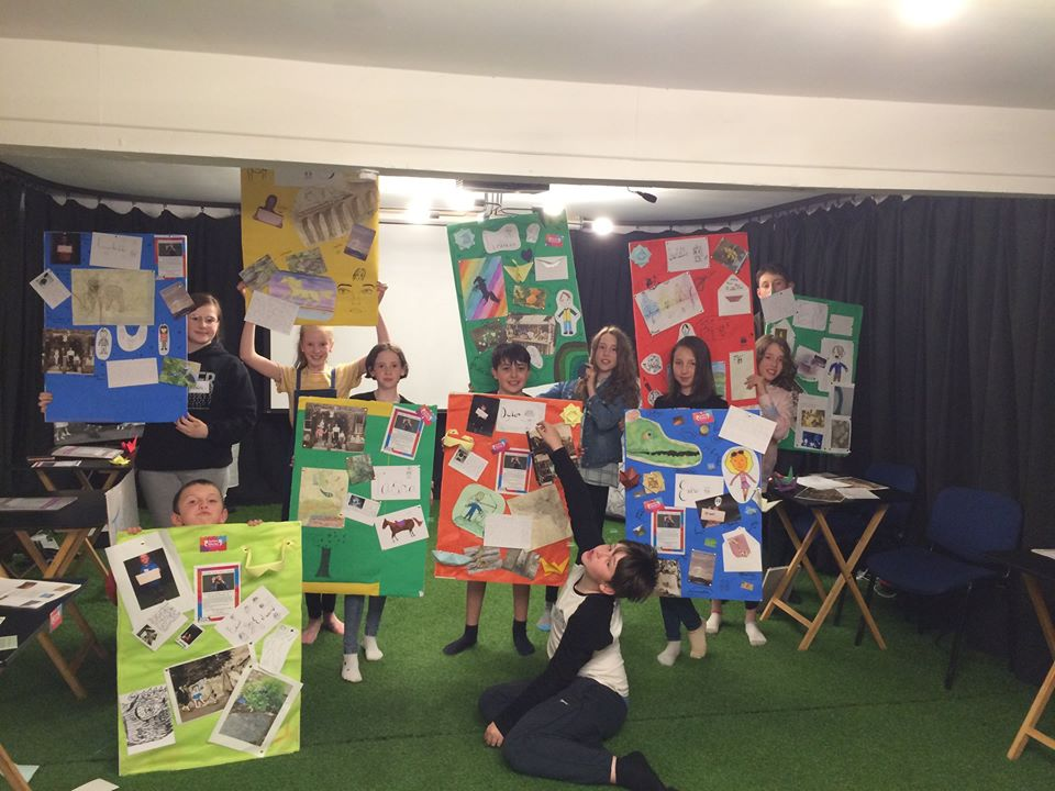 Young people taking part in Settle Stories Arts Award Week